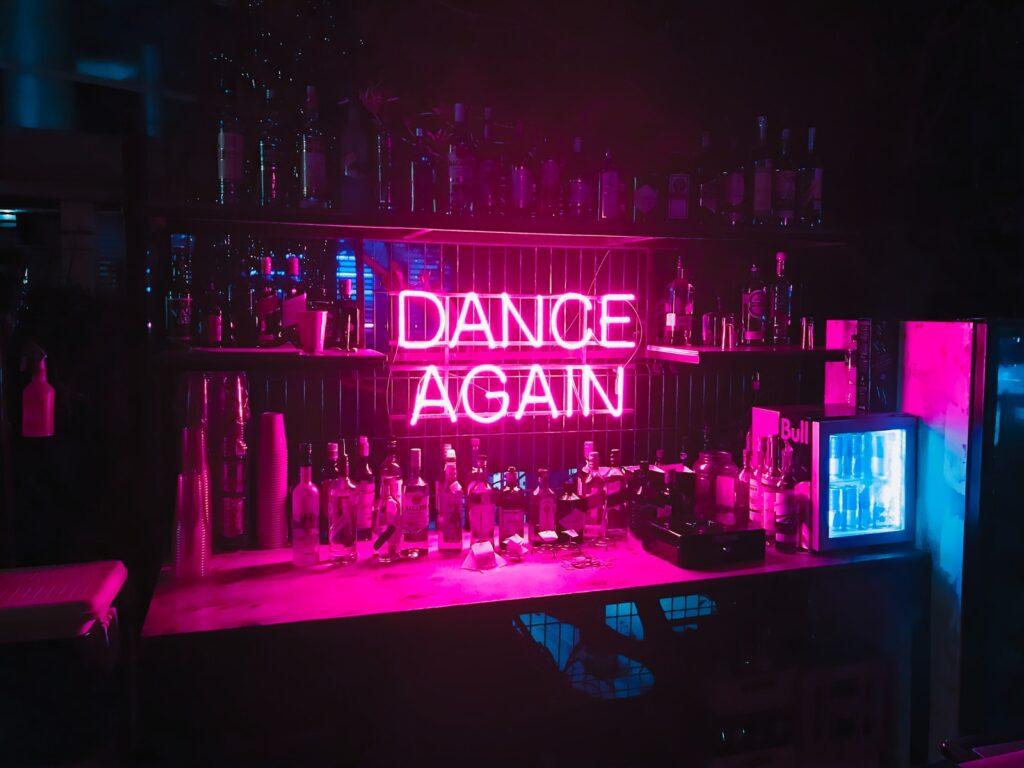 Dance Again LED signage